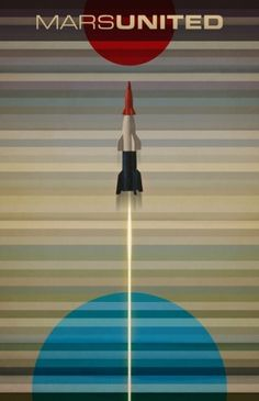 MarsUnited Liftoff Art Print by Andy Rohr | Society6 #marsunited #space #poster