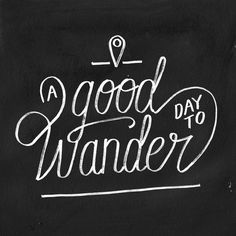 Good Day to Wander Art Print #lettering #wanderlust #travel #wander #typography