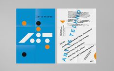 Art is Techno — Identity on Behance #poster