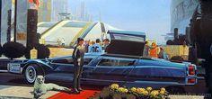 Retro-Futuristic Chauffeur #futurism #chauffeur #car #retro