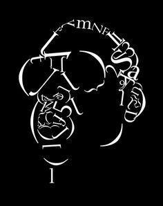 Jay-Z Typographic Portrait by Matt Hodin www.Behance.net/MattHodin