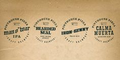 Pinthouse Pizza: Branding | Erick Montes #pizza #beer #typography