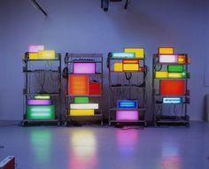 David Batchelor - Brick Lane Remix I - Contemporary Art #shelfs #lights
