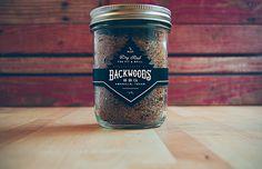 #BBQ #Packaging #masonjar #wraparound #design #distressed #handdrawn
