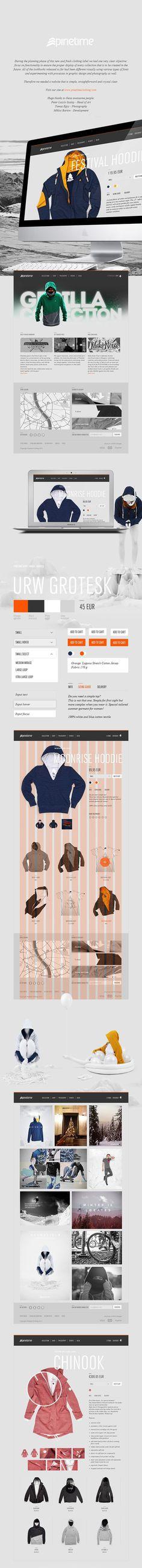 Pinetime Clothing Webdesign #ui
