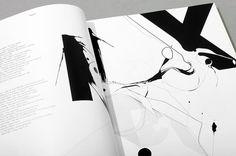 DANSK–International Fashion Magazine - Rune Høgsberg #lines #blackwhite #swirl #typography
