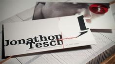Jonathon Tesch › print #business #card #print #type #layout #typography