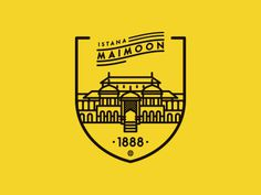 https://dribbble.com/denianggara istana maimoon #palace #malay #deli #medan #pictogram #design #icon