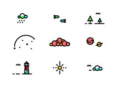 E-X-P-L-O-R-E icons #badge #line #tree #icon #color #icons #texture #logo #illustration #plane #type #detail