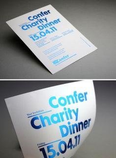Charity Dinner Poster
