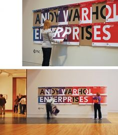 Andy Warhol Enterprises | Matt Kelm Design #andy #museum #indianapolis #of #warhol #matt #posters #art #signage #kelm