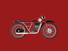 Momochicle by Nathan Lewis #illustration #bike #motorcycle