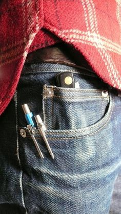 Quality Image Supply #denim #plaid #pencil #pocket