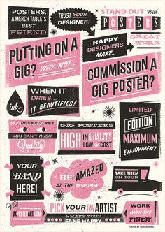 Telegramme #gig poster #screen print