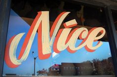 All sizes | Nice | Flickr - Photo Sharing! #typography #lettering #signage #nice #hand #drawn