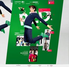 Julien Bailly Portfolio updated » Digital Abstracts / Online Design Magazine / Interviews / Design Inspiration #lacoste #julien #website #bailly #webdesign #green