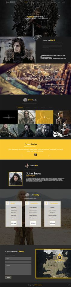 Game of Thrones – Free Responsive HTML Template