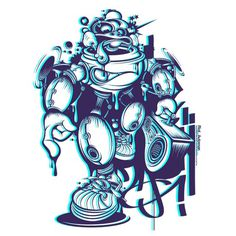 Dj.Riot's 12 #vector #design #illustration #3d #charcter