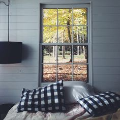 (2) Likes | Tumblr #interior #old #design #wood #pillows #window