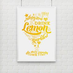 bezigncreative.com Lemon Squeezy bezigncreative.com #print #yellow #type #lemon #hand
