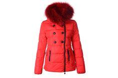 Moncler Women Herisson Down Jackets Red #fashion
