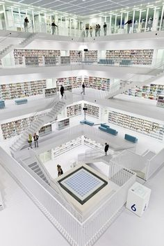 Stuttgart City Library | EMPTY KINGDOM You are Here, We are Everywhere #stuttgart #books #architecture #minimal #library