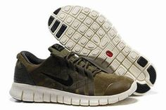 Nike Free Powerlines Premium Running Shoe Military Green Mens #shoes