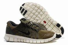 Nike Free Powerlines Premium Running Shoe Military Green Mens