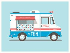 DKNG #truck #cream #dkng #illustration #ice