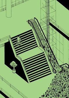 Brecht Vandenbroucke / citystairs #shopping #city #brecht #stairs #vandenbroucke