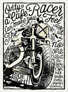 Caferacer illustration poster Alexramonmas Studio Design
