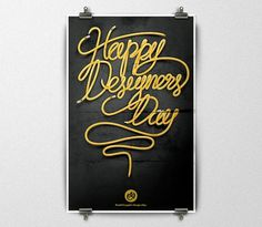 World Graphic Design Day on the Behance Network #poster #typography