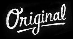 original typography #lettering #origina #branding #design #logo #hand #typography