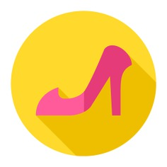 See more icon inspiration related to shoe, fashion, high heels, heels, footwear, female, shoes and women on Flaticon.