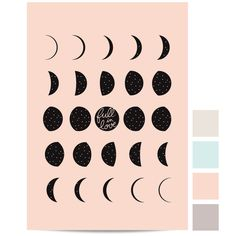 Image of Affichette Lune #crescent #astronomy #space #illustration #phase #full #love #circle #drawing #science #sketch #moon