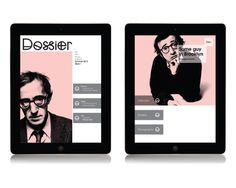 Dossier on Behance #ipad #layout #magazine