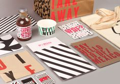 DF Mexico #food #mexico #mexican #restaurant #stripes #identity #branding #menu #packaging