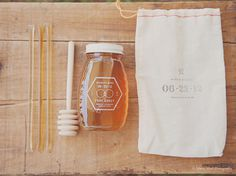 nicolemike_wedding_01 #packaging #hexagon #branding #honey