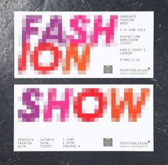 NTU GFW 2011 : Andrew Townsend #show #stationary #typography