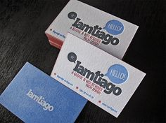 IamTiago Business Card - FPO: For Print Only #business card #letterpress