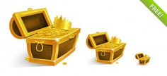 Treasure chest with golden coins and crown Free Psd. See more inspiration related to Crown, Icons, Web, Graphic, Golden, Elements, Illustration, Coins, Treasure, Web icons, Web elements, Chest, Graphic elements, Treasure chest, Horizontal, Golden crown, Golden coins and Treasury on Freepik.