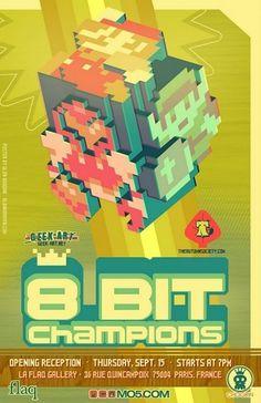 8bitposterlight-1.jpg 615×950 pixels #8 #design #bit #illustration #poster #game #typography