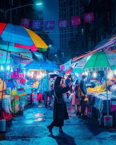 Neon, Moody and Cinematic Nightscapes of Shanghai and Beyond by Victor Chiang
