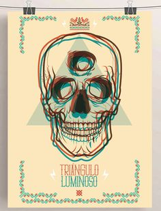 SHOW-BILL en Behance #vector #illustration #triangle #vintage #poster #art #skull #animal #bad