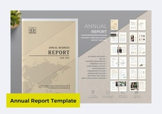 Business Annual Report Template by ThemeDevisers