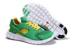 Nike Huarache Free 2012 Running Shoe Court Green White Tour Yellow Mens