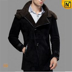 Black Sheepskin Shearling Jacket CW877132 #sheepskin #jacket #shearling
