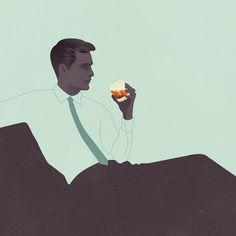 Jack Hughes Illustration #illustration #retro #med man
