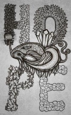 All sizes | HOPE - Droga Mag illustration | Flickr - Photo Sharing! #hope #ink #white #india #black #illustration #hashing #drawing