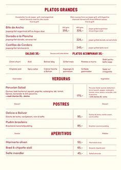 Bolívar #norway #menu #bold #simple #spanish #minimal #pastel